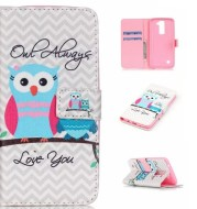 Cartoon print painted protective cover printed owl leather case painted mobile phone protective case
