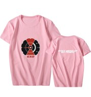 EXO regular 5 series DON'T MESS UP MY TEMPO around the aid should be the same paragraph short-sleeved T-shirt female summer dress