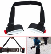 Adjustable Skiing Pole Shoulder Hand Carrier Lash Handle Straps Porter Hook Loop Protecting Ski Handle Strap Bags Dropshipping