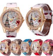 New Vintage Paris Eiffel Tower Women's Quartz Watch Women Girls Ladies Students Casual Wristwatch Relojes