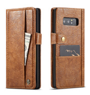 Samsung Note8 crack retro simulation leather flip wallet card Samsung note9 protective cover