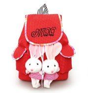 Student bag children cartoon polka dot bag bunny pendant cute canvas bag