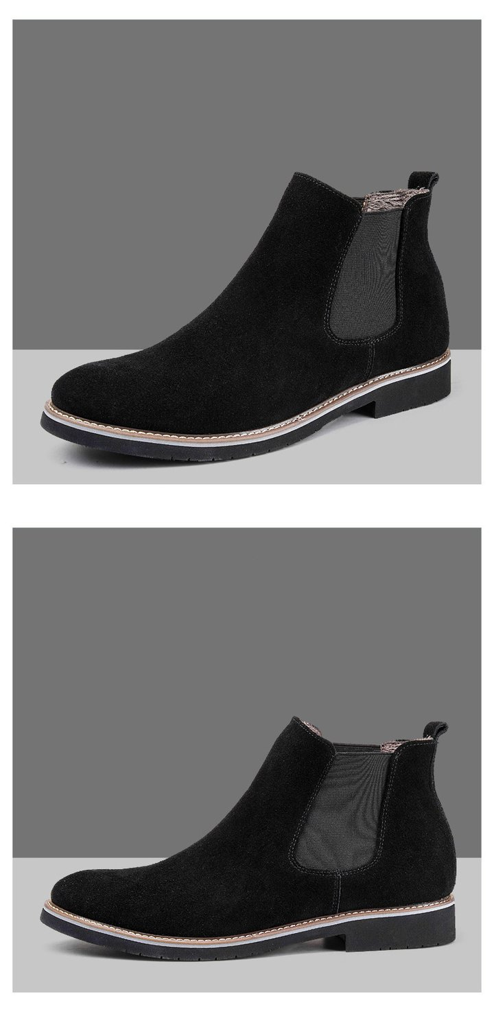 black color Leather Casual Shoes
