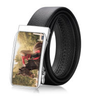 Men's Custom Photo Buckle Cow Leather Belt
