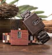 BOBOBIRD new square creative wood watch men's fashion trend wood table