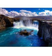 XXL -  5D Diamond Painting - Erstaunlicher Wasserfall