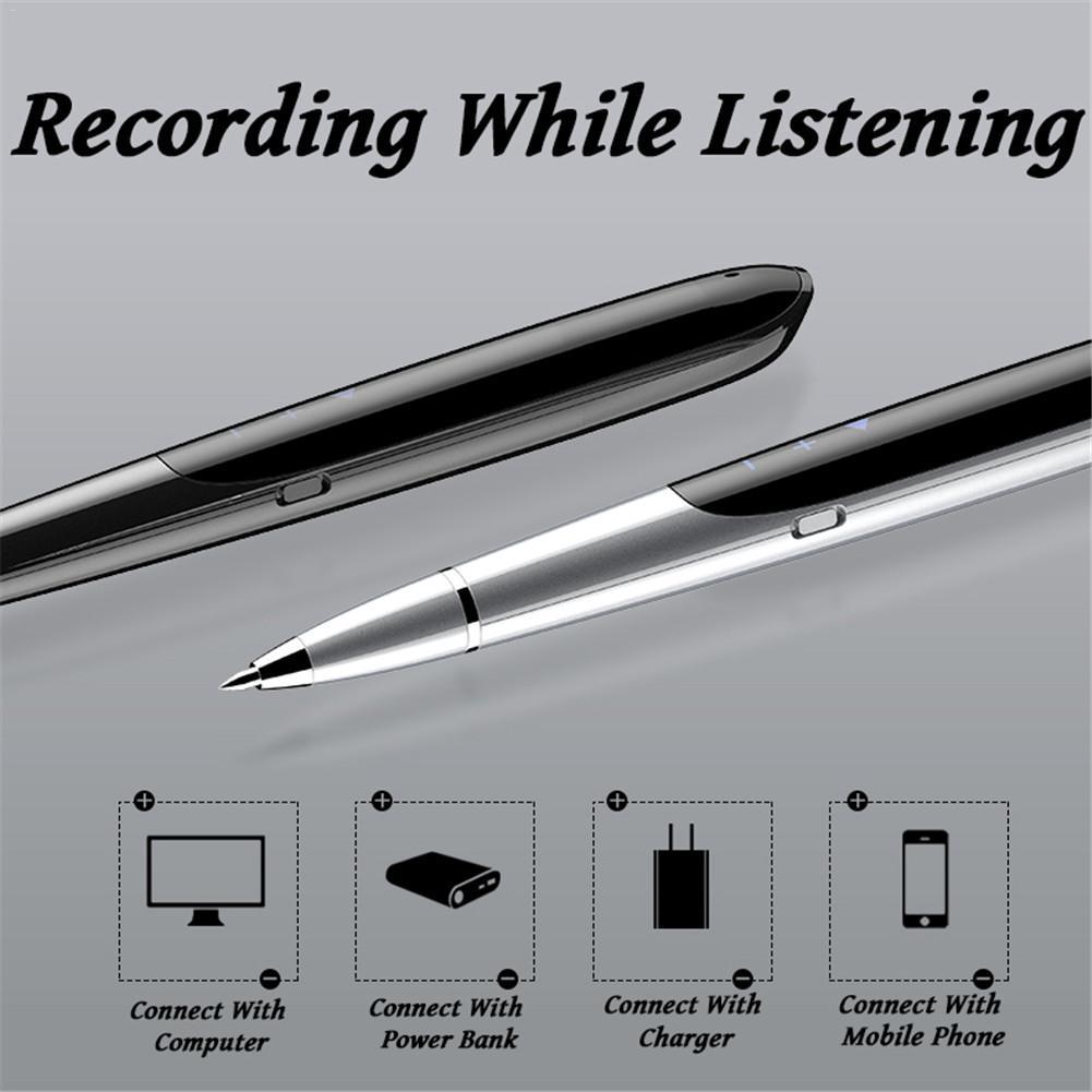 JNN Q9 Pen Recorder 8GB LED Display Digital Recorder Pen Hidden Digital Audio Sound Voice Recorder Recording Pen