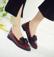 Solid color pointed flat with single shoes women's shoes