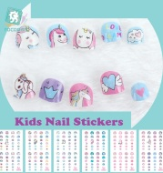Rocooart Unicorn Nail Stickers For Kids Cartoon Nail Art Decoration Nail Wraps Cute Elements Manicure Foil Nail Art Decal Child