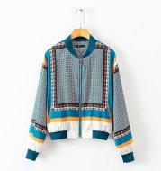 Spain single European and American style stand collar long sleeve printed baseball uniform jacket