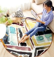 Bohemian geometry hairless chenille home non-slip living room sofa coffee table large carpet mat