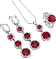 Bridal jewelry three-piece