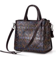 Retro-embossed handbag for ladies with recreational one-shoulder handbag
