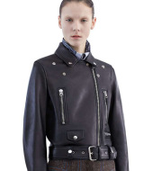 Motorcycle leather coat