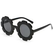 Round frame children's sunglasses personality small flowers girls sunglasses