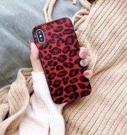 Leopard female plush super fire net red tide brand mobile phone shell