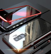 Metal magnetic glass case