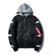 Japanese youth embroidery Harajuku style men's outer pilot jacket