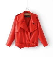Spring and autumn new short paragraph nine-point sleeve PU leather jacket jacket motorcycle clothing