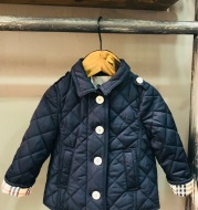 Spring children's clothing new foreign trade children's clothing lattice classic thin cotton coat