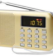 Dedicated to L 218 ultra-thin card mini speaker old man radio audio digital point singing machine