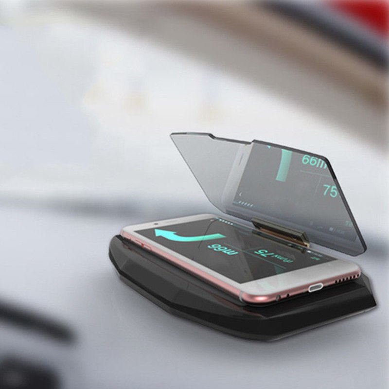 Universal Phone Holder With Hands Free Display For GPS Car Folding GPS HUD Head Up Display Projector