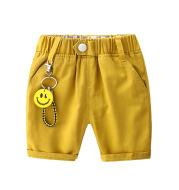 Solid color cartoon smiley trend boy five pants