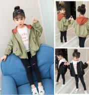 Children's jacket new spring Korean fashion girls casual hooded jacket big boy sports jacket