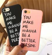 Korean romantic English for 8plus xs phone case