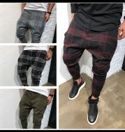 Plaid printed slacks