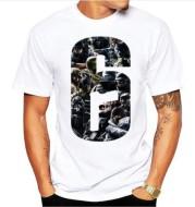 New Printed Modal Short Sleeve Rainbow Sixth Men's Short Sleeve T-Shirt