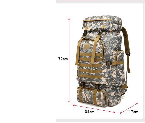 """Army Green Camouflage Bushcraft Backpack """"Vivo"""" by Gentcreate"""