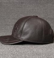 Monochrome cowhide hat