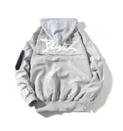 Printed Hooded Contrast Youth Men's Jacket
