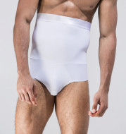 Men's tight-fitting high waist tummy hip shaping briefs