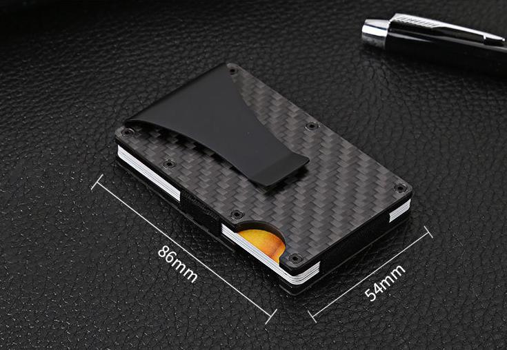 package aluminum bank card credit card card business card holder wallet European and American metal wallet, ENE Trends Carbon Fiber Wallet Card Holder