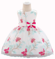 Amazon Source of New Princess Skirts, Embroidered Bowknots, Children''s Performing Dresses in Summer of 2021