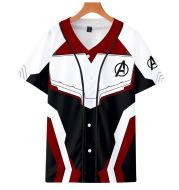 Cross-border for the Avengers Endgame Avengers 4 digital print short-sleeved baseball uniform