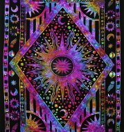 Wall-mounted sun moon tapestry psychedelic tapestry bohemian wall-mounted dormitory beach single