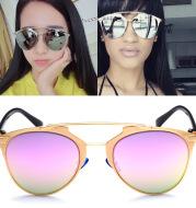 Reflective colorful film sunglasses