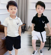 2020 children's clothing summer new lapel T-shirt boy POLO shirt cotton short-sleeved T-shirt a generation of foreign trade