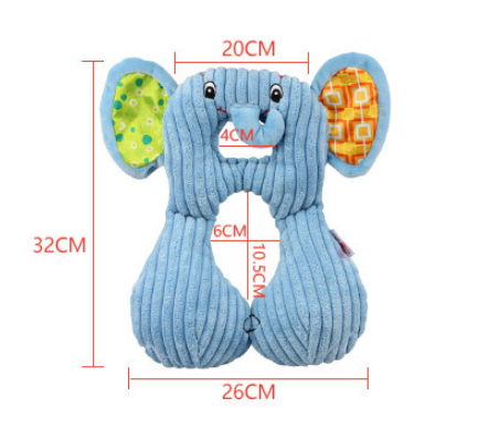 Neck pillow for children Baby pillow cartoon animal U-shaped neck pillow Baby car seat cushion pillow