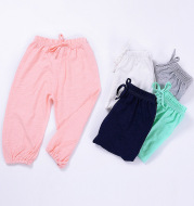 Children's mosquito-proof pants summer new baby casual cotton girls boys trousers lantern trousers sleep pants