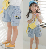Children''s Trousers 2021 New Korean Girl Jeans Summer Children''s Hole Shorts Girl Baby Trousers Children''s Hot Pants