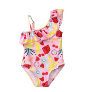 Ins2021 girls baby swimsuit new girl baby sling fruit Europe and America conjoined children swimwear