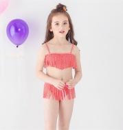 2020 New Foreign Trade Fast-selling Girl's Spot Printed Bezoar Split Bikini Children's Swimming Suit 1858