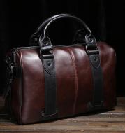 Men's shoulder bag crazy horse leather Messenger bag Korean version of the portable multi-function trend leisure diagonal package