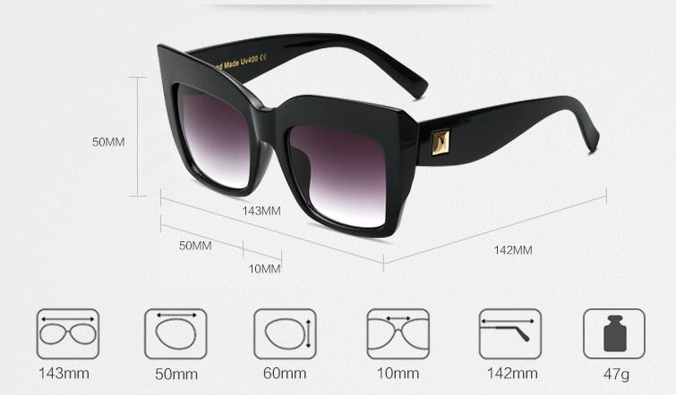 Grote vierkante zonneBril - goedkoop - fashion bril nu verkrijgbaar in onze webshop