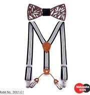 Children's wooden bow tie