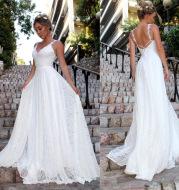 V-neck sling lace dress